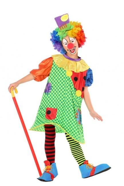 Costume clown con cappello da bambina per 20,75
